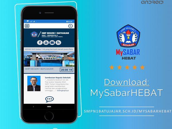 Inovasi di tengah Pandemi SMPN 1 Batujajar luncurkan aplikasi MySabarHEBAT